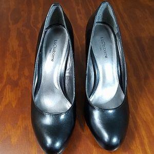 Liz Claiborne Sam Flex Black Heels, sz 8M